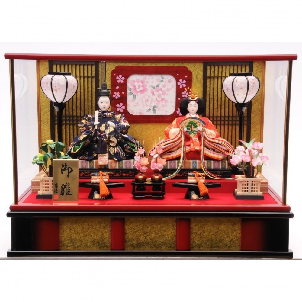 【雛人形】ベビーザらス限定 ケース親王飾り「名入れ付格子」【オンライン限定】【送料無料】