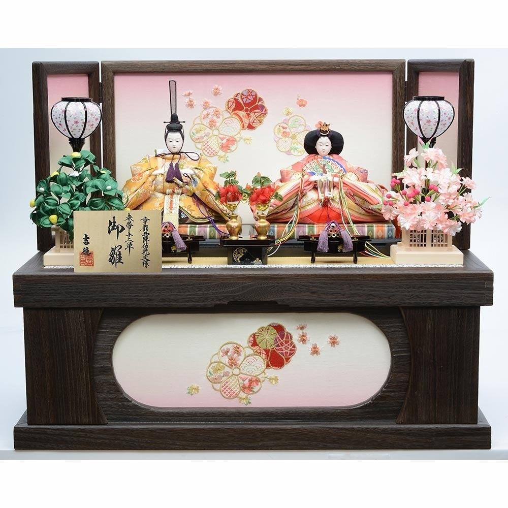 【雛人形】ベビーザらス限定 収納親王飾り「花ごよみ焼桐」【送料無料】