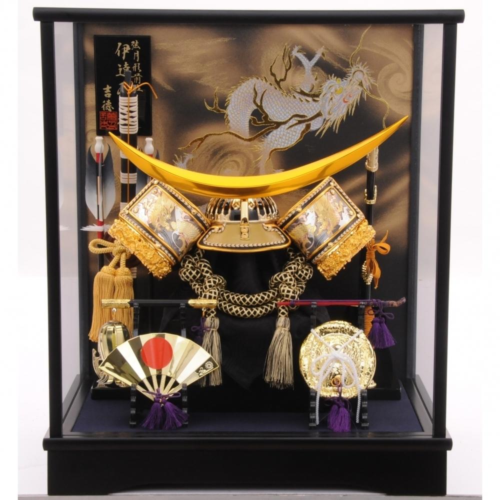 【五月人形】ベビーザらス限定 兜ケース飾り 「伊達政宗金彩龍」【送料無料】