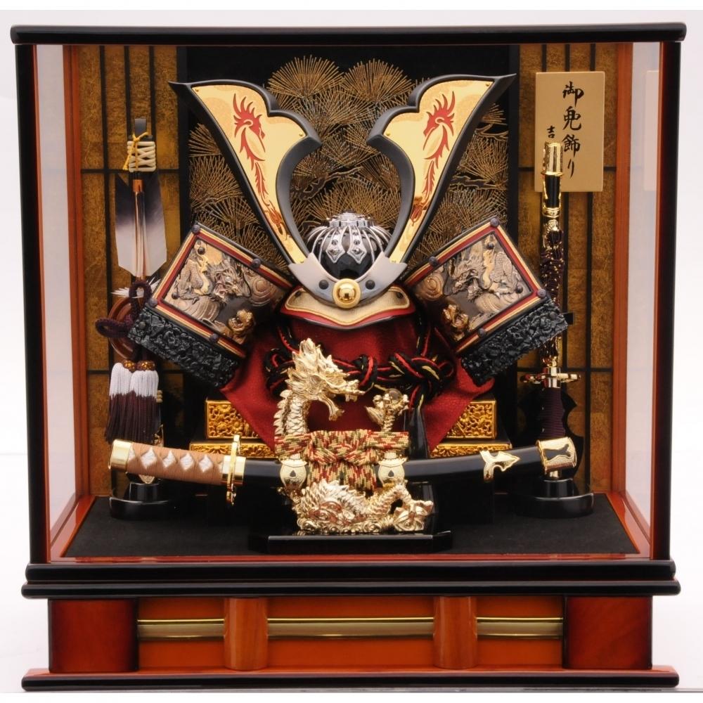 【五月人形】ベビーザらス限定 兜ケース飾り「龍一本太刀格子付アクリル」【送料無料】