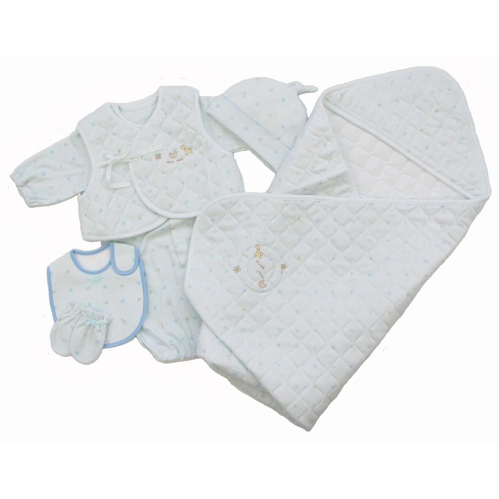 【オンライン限定】Caramel first step 新生児ウエアセット(ブルー・50-70cm)【送料無料】