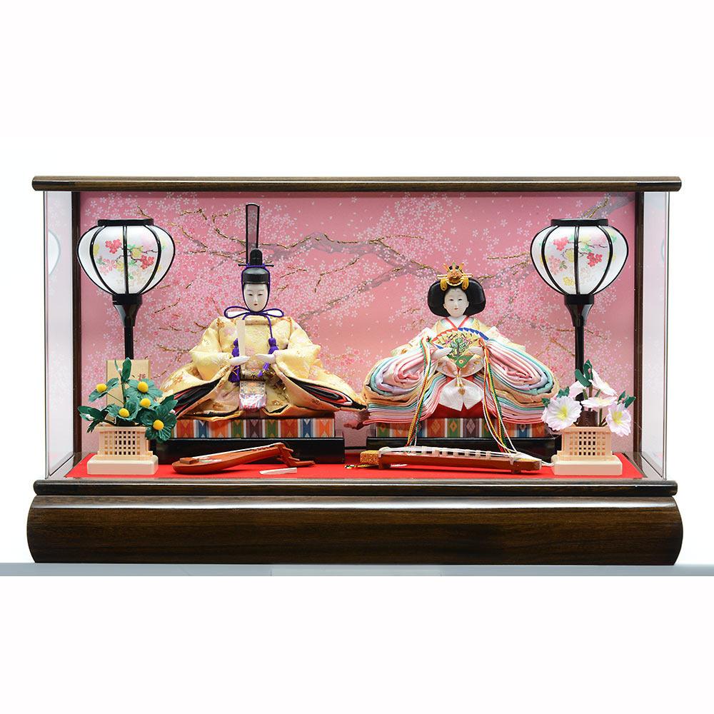【雛人形】ベビーザらス限定 ケース親王飾り「桜模様木目アクリル」【オンライン限定】【送料無料】