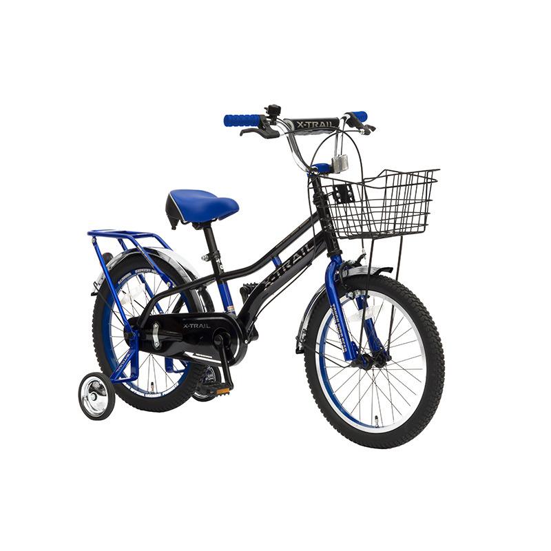 トイザらス限定 18インチ 子供用自転車 X‐TRAIL(ブラック×ブルー)