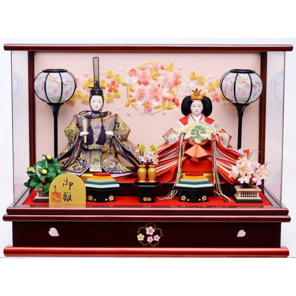 【雛人形】ベビーザらス限定 ケース親王飾り「花丸桜 パノラマアクリル」【送料無料】