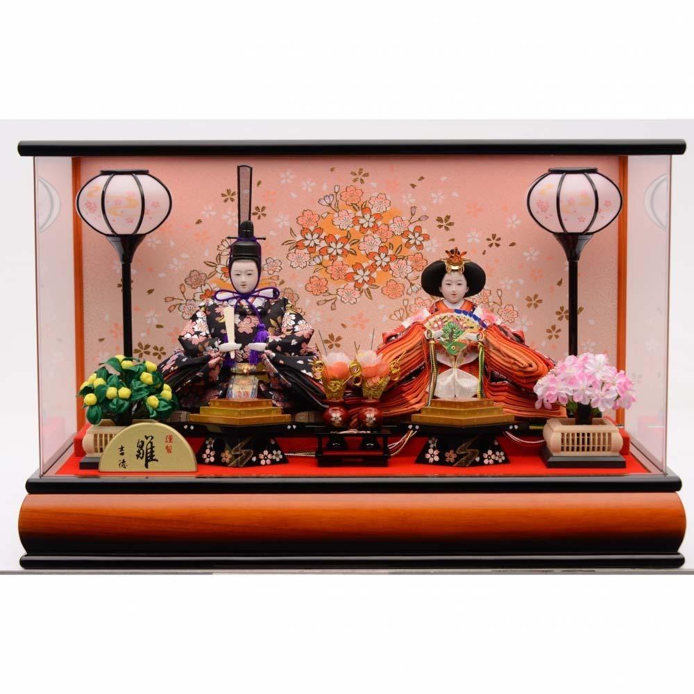 【雛人形】ベビーザらス限定 ケース親王飾り「金彩桜木目アクリル」【送料無料】