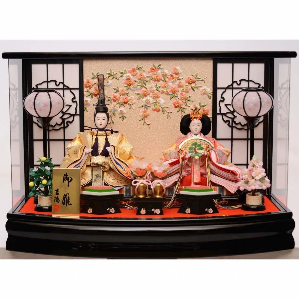 【雛人形】ベビーザらス限定 ケース親王飾り「雪輪格子桜刺繍アクリル」【オンライン限定】【送料無料】