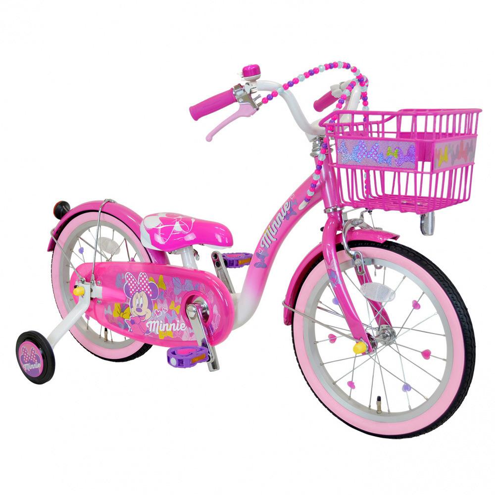 【クリアランス】18インチ 子供用自転車 ミニーマウス Poppin' Ribbon