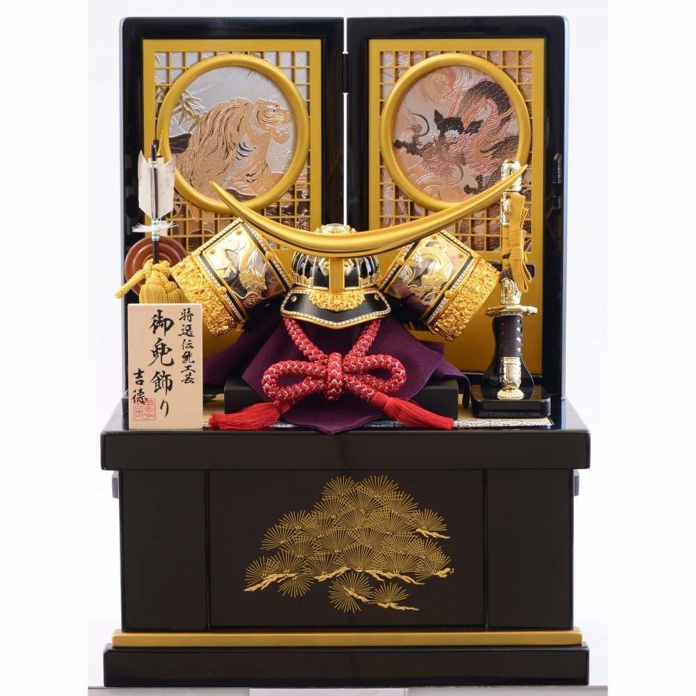 【五月人形】ベビーザらス限定 兜収納飾り「龍虎丸抜格子」【送料無料】