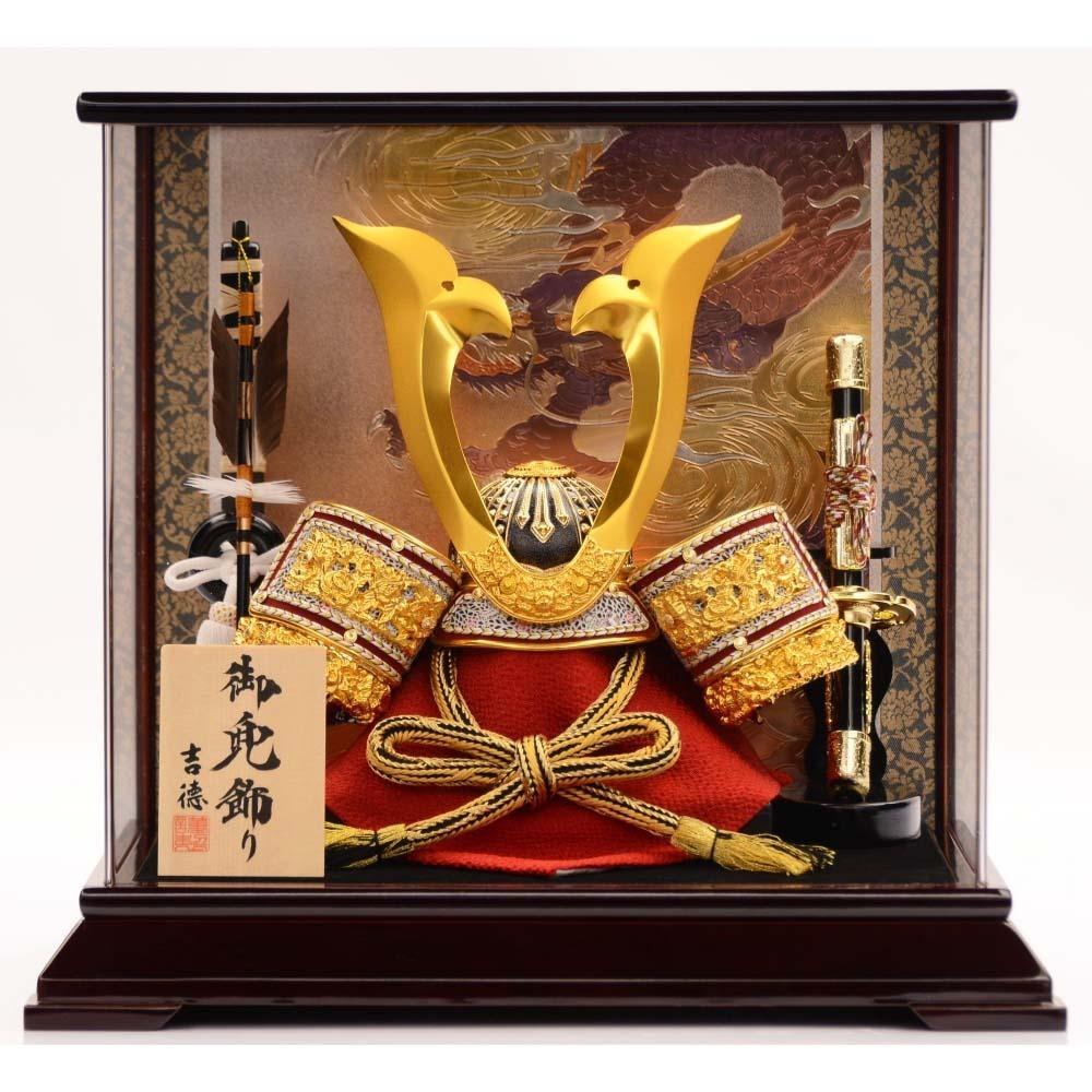 【五月人形】ベビーザらス限定 兜ケース飾り「彫金龍溜塗 パノラマアクリル」【送料無料】
