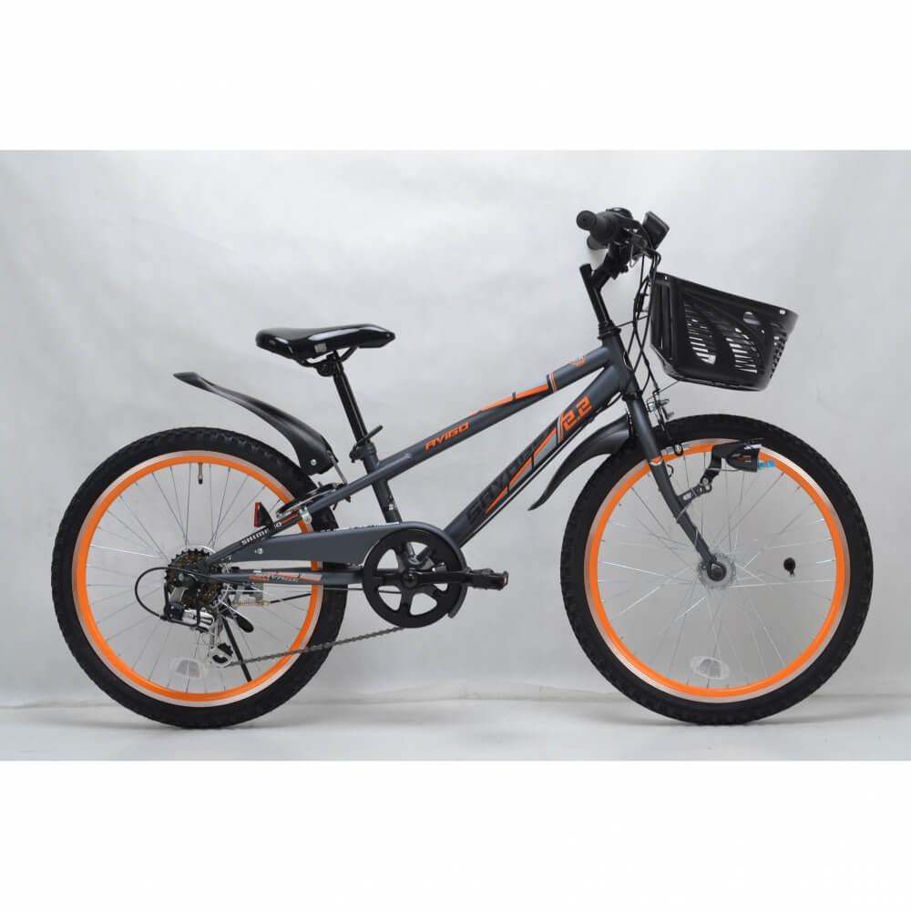 トイザらス AVIGO 22インチ 子供用自転車 サベージ オートライト 2020A/W新作送料無料 100%品質保証 オレンジ CIデッキ ブラック