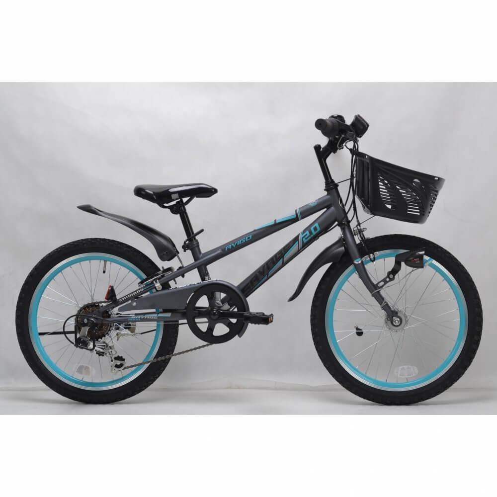 トイザらス限定 AVIGO 20インチ 子供用自転車 サベージ CIデッキ オートライト(グレーブルー)