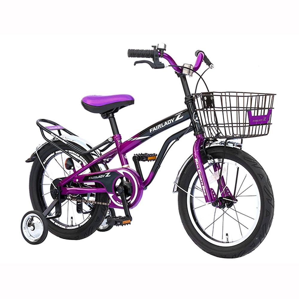 【クリアランス】トイザらス限定 16インチ 子供用自転車 FAIRLADYZ‐18 ブラック×パープル
