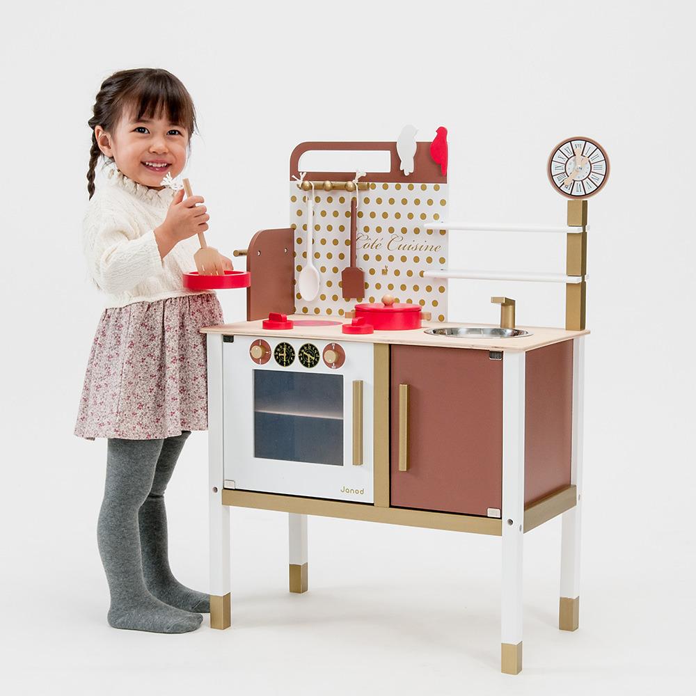 トイザらス限定 最安値に挑戦 卓出 木製カフェキッチン 送料無料