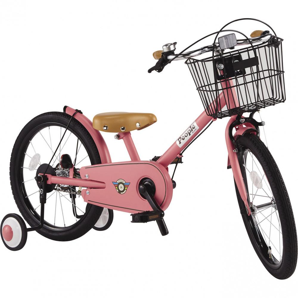 共伸びサイクル 18インチ 子供用自転車(ブルーミングピンク)