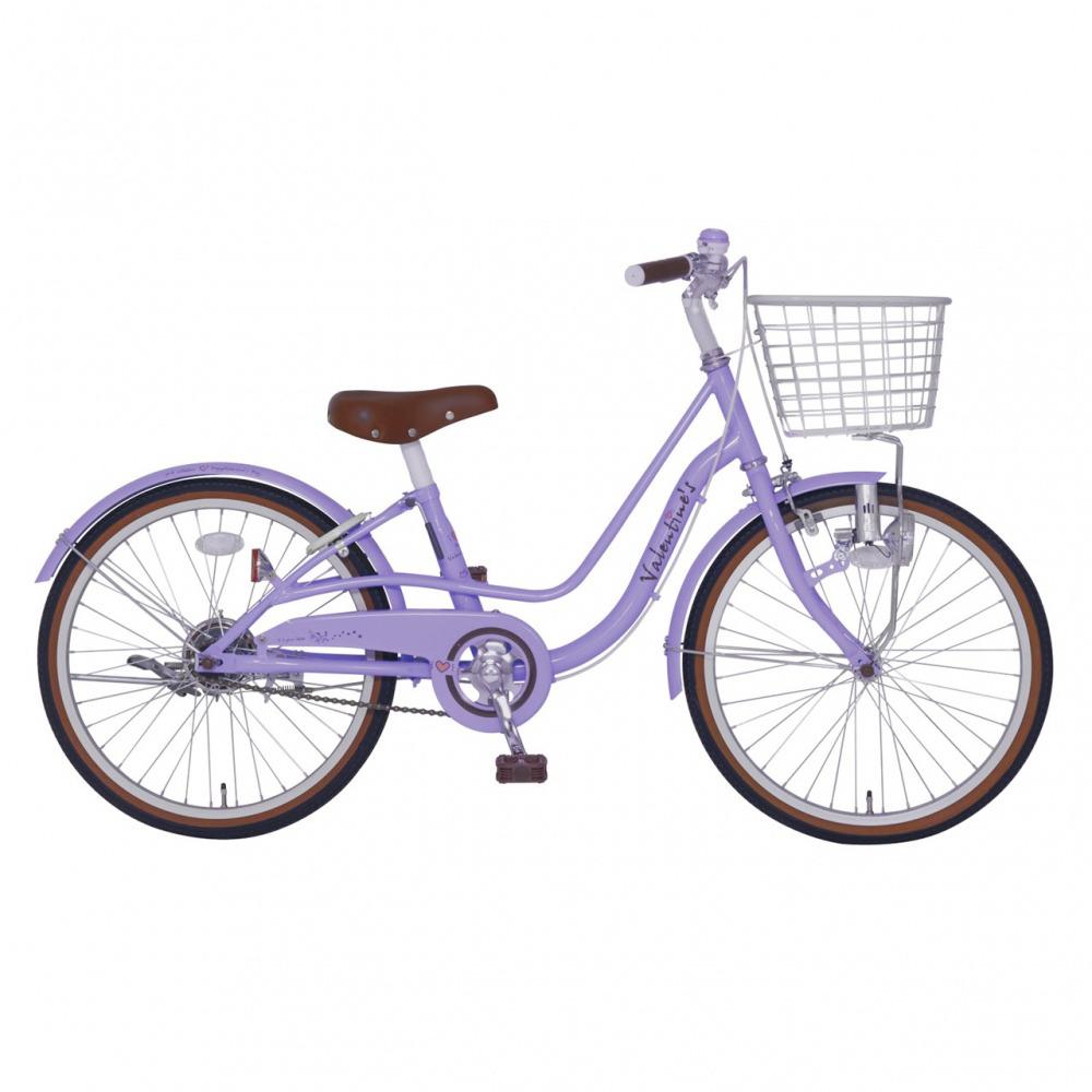 トイザらス限定 22インチ 子供用自転車 バレンタイン(パープル)