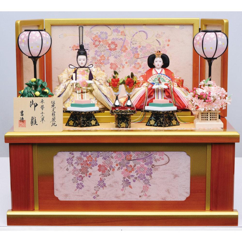 【雛人形】ベビーザらス限定 収納親王飾り 「華吉祥赤金ぼかし」【送料無料】