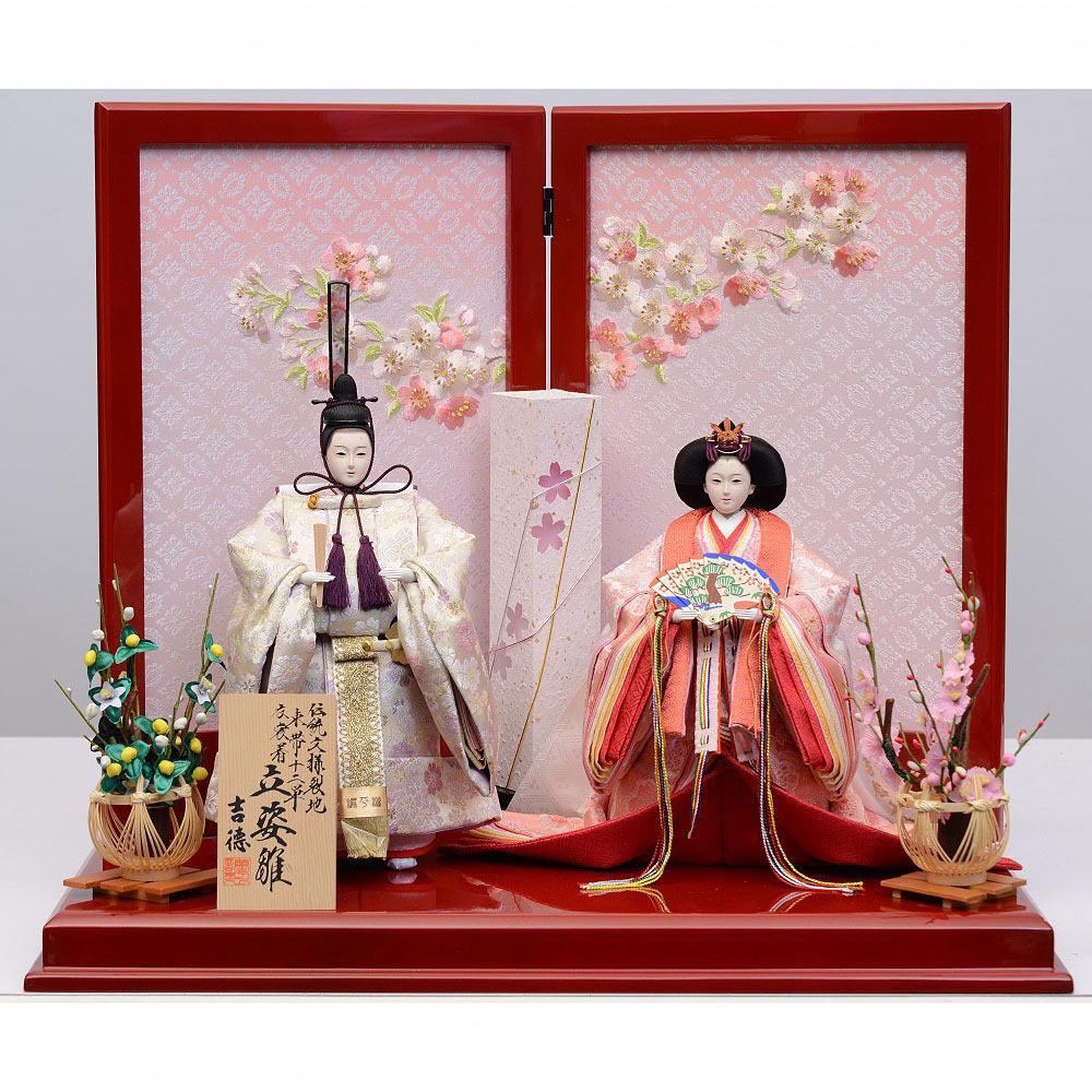 【雛人形】ベビーザらス限定 親王飾り 「爛漫桜立雛」【送料無料】