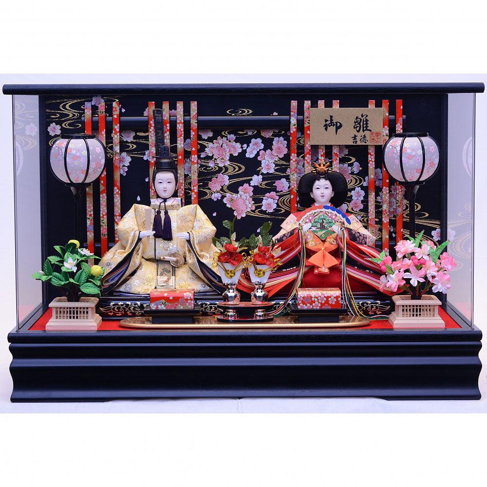【雛人形】ベビーザらス限定 ケース親王飾り「金彩流水桜華格子アクリル」【送料無料】