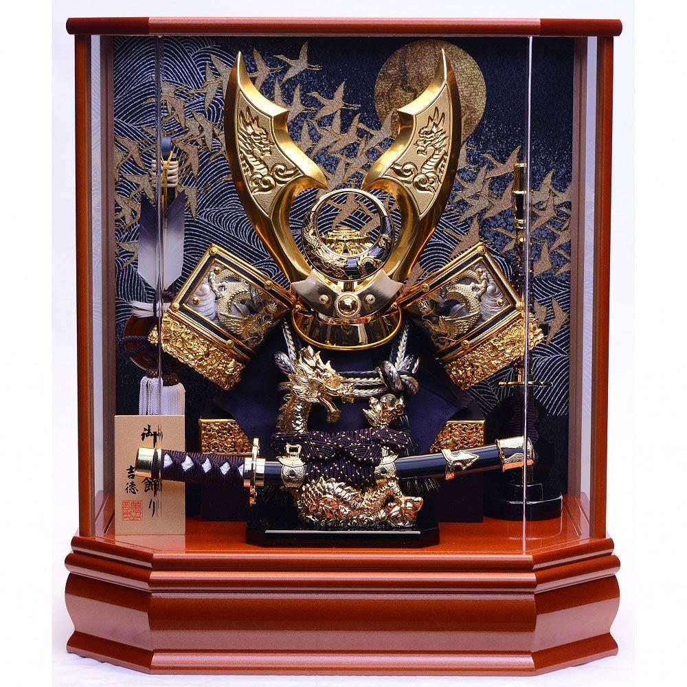 【五月人形】ベビーザらス限定 兜ケース飾り 「龍一本太刀 月に舞鶴アクリル」【送料無料】
