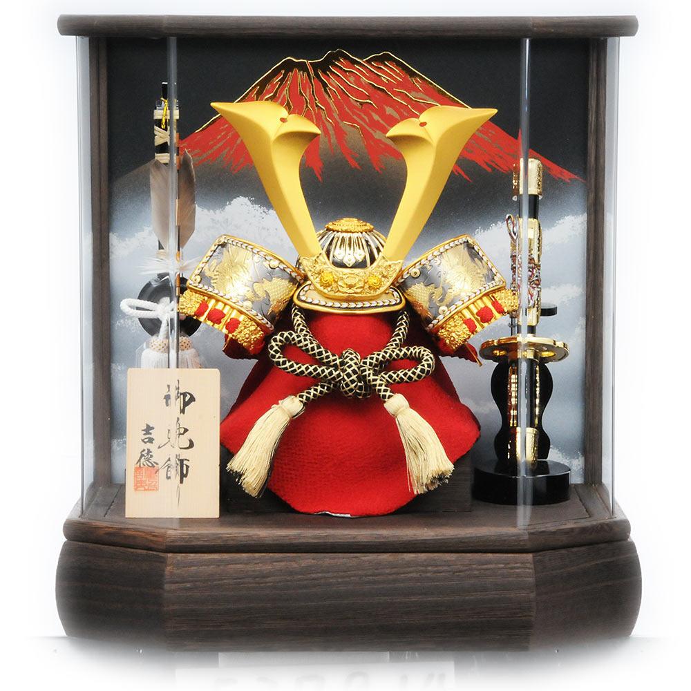 【五月人形】ベビーザらス限定 兜ケース飾り「赤富士六角アクリル」【送料無料】