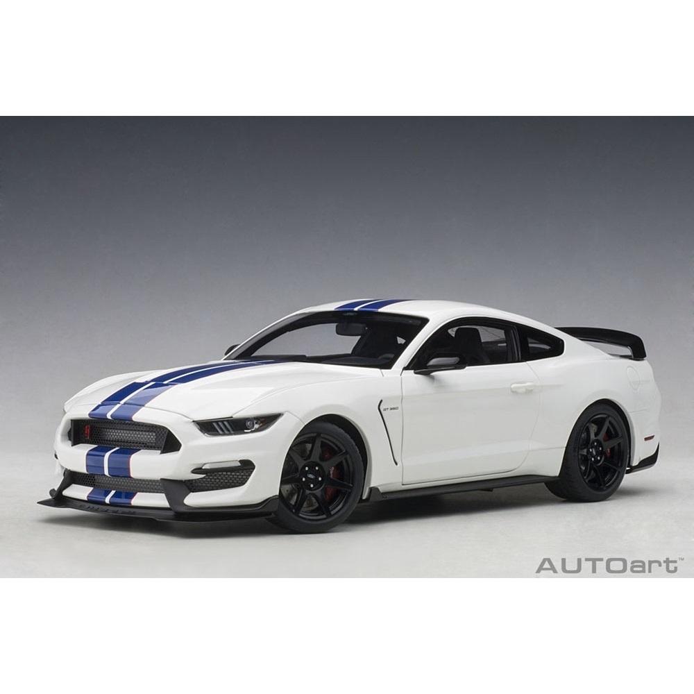 1/18 フォード シェルビー GT350R (ホワイト/ブルー・ストライプ)【オンライン限定】【送料無料】