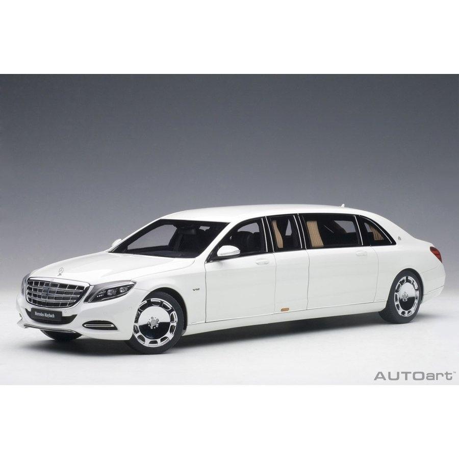 1/18 メルセデス・マイバッハ S 600 プルマン (ホワイト)【オンライン限定】【送料無料】