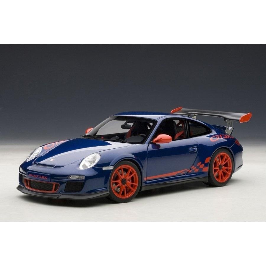 1/18 ポルシェ 911 (997) GT3RS 3.8 (ブルー/レッドストライプ)【オンライン限定】【送料無料】