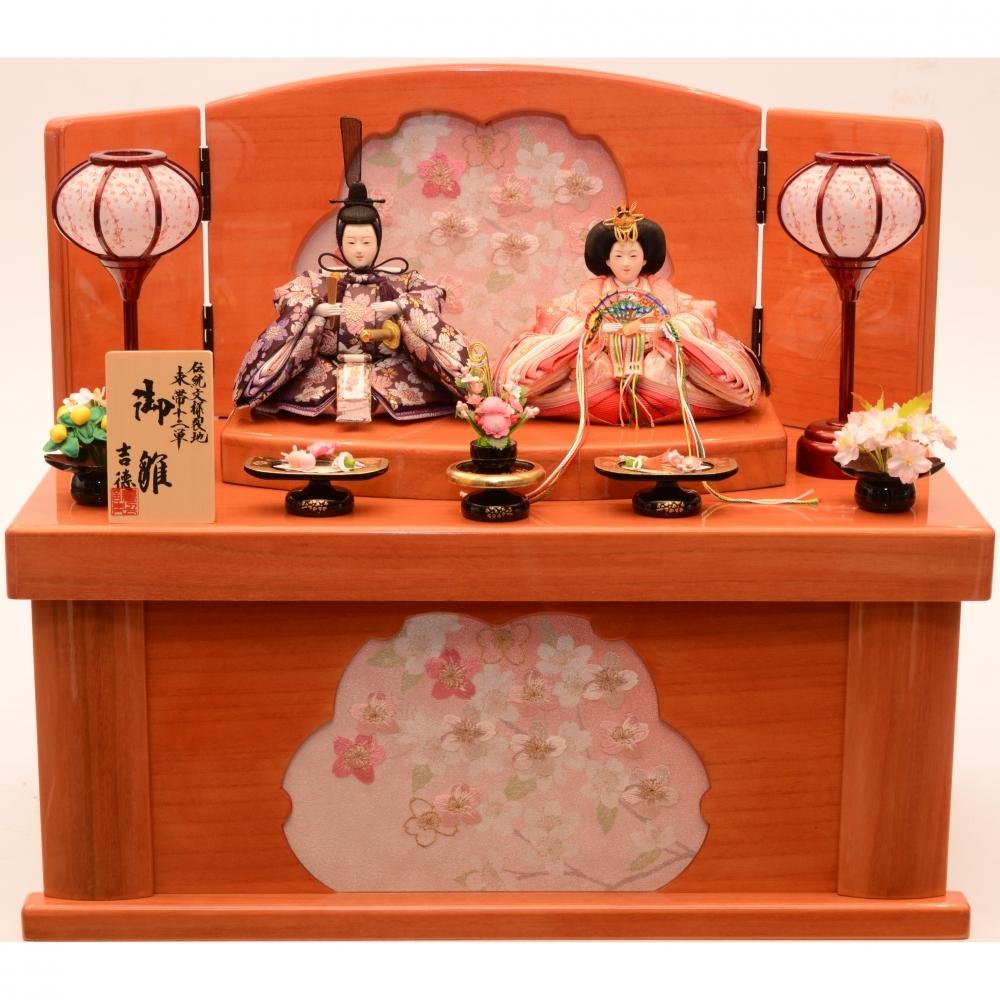 【雛人形】ベビーザらス限定 収納親王飾り「桜刺繍桜抜き形」【送料無料】