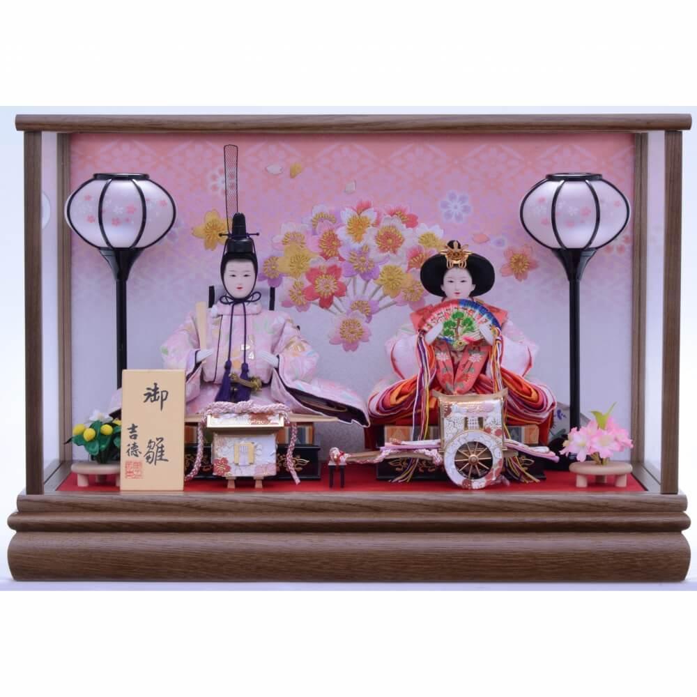 【雛人形】ベビーザらス限定 ケース親王飾り「桜扇木目アクリル」【送料無料】