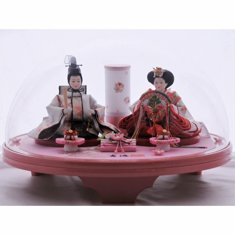 【雛人形】ベビーザらス限定 ケース親王飾り「春光ドーム形ピンクアクリル」【送料無料】