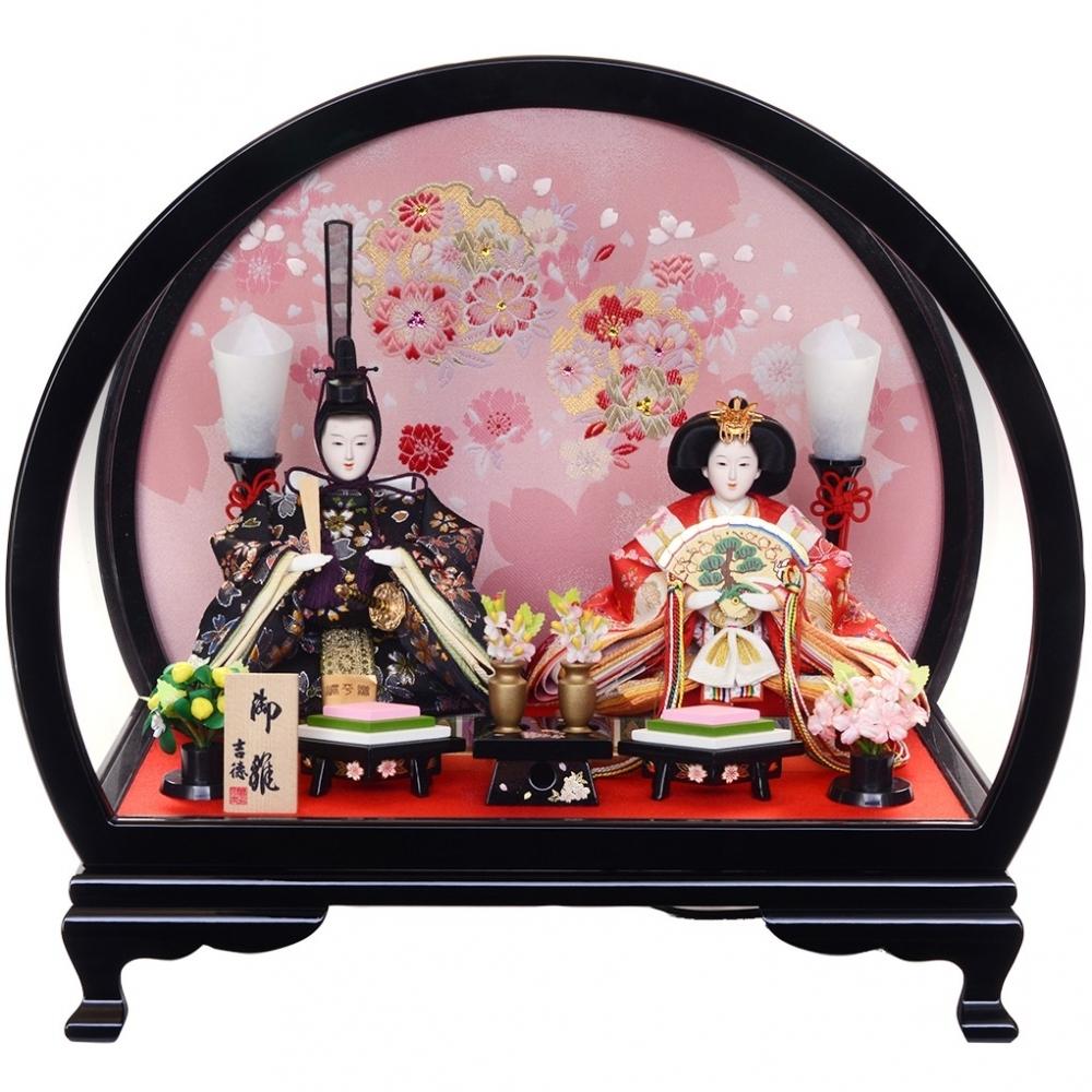 【雛人形】ベビーザらス限定 ケース親王飾り「春歌雪輪桜半円アクリル」【送料無料】
