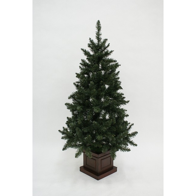 【クリスマスツリー】120cm アーティフィシャルクリスマスツリー 木製エレガントポット コロラドスタイル イージーチップ 【オンライン限定】【送料無料】