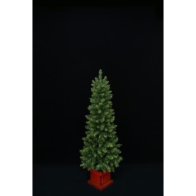 【クリスマスツリー】150cm アーティフィシャルクリスマスツリー 木製エレガントポット ニューヨークスタイル イージーチップ 【オンライン限定】【送料無料】