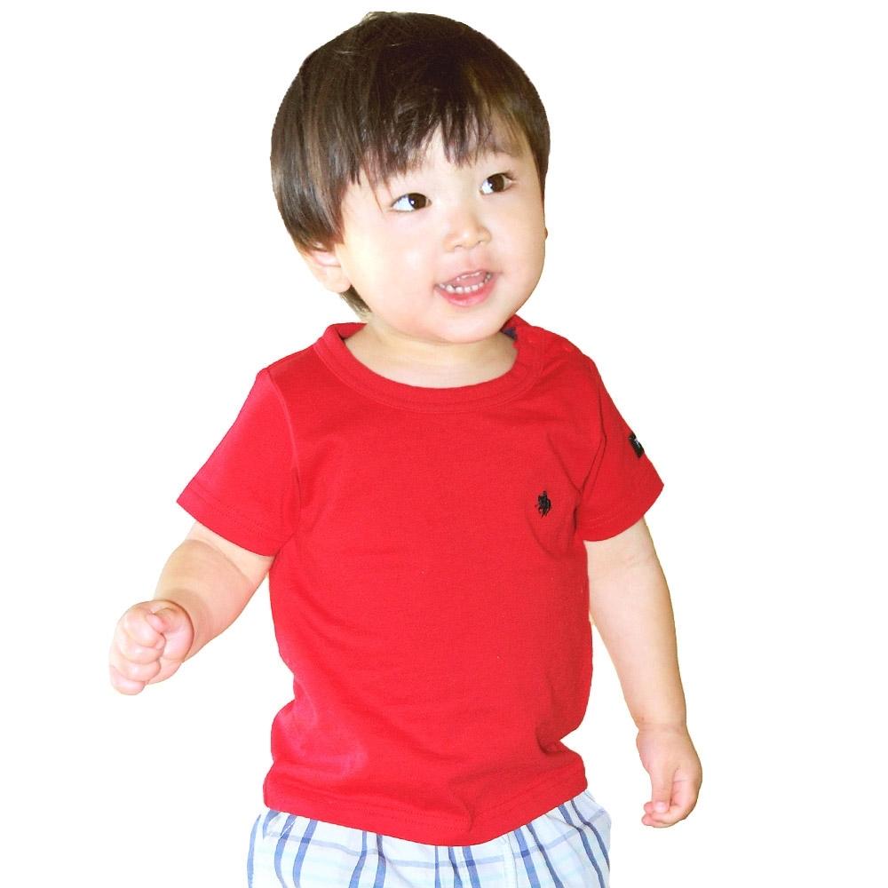 ベビーザらスオリジナル POLO 半袖Tシャツ 限定Special Price 正規認証品!新規格 刺繍ワンポイント レッド×90cm