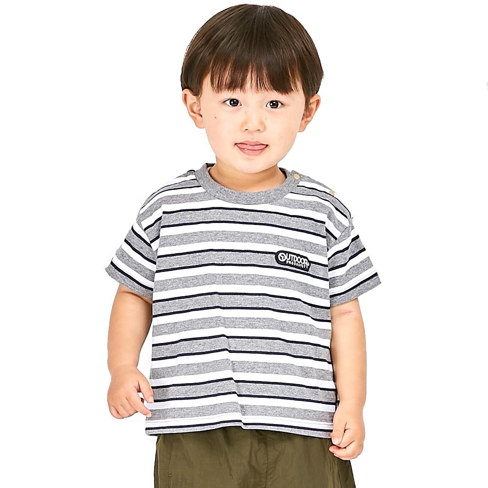 OUTDOOR 半袖ボーダーTシャツ グレー×95cm 全店販売中 サービス