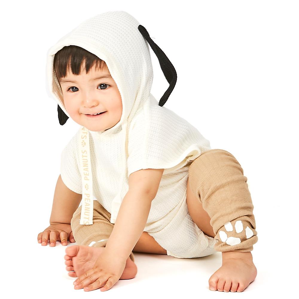 割引 春の新作続々 ベビーザらス限定 SNOOPY 半袖ロンパース×レッグウォーマーセット ホワイト×70cm なりきり
