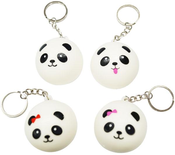 Entering 12 tender panda squeeze key rings