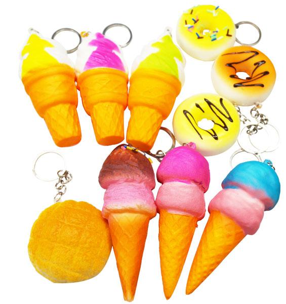 Entering 12 tender squeeze key rings (dessert)