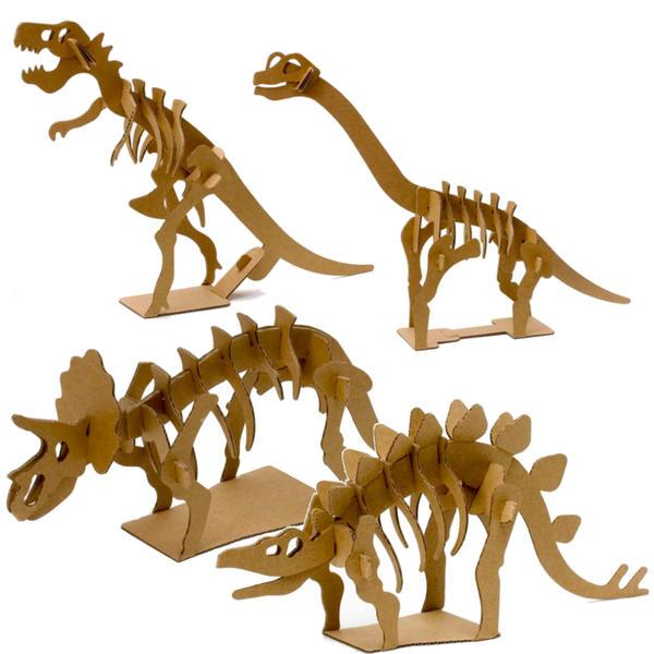おもちゃ グッズ プレゼント 好評 ギフト 知育 景品 イベント 段ボール工作 模型 ダンボール工作シリーズ 公式通販 恐竜4種セット 工作キット ステゴサウルス トリケラトプス ブラキオサウルス メール便可 ティラノサウル 男の子