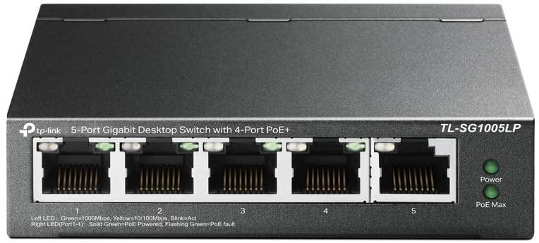 スイッチングハブ 誕生日プレゼント PoE+ TP-Link 5ポート 4ポートPoE+ 合計40W対応 5年保証 TL-SG1005LP 各30Wまで 記念日