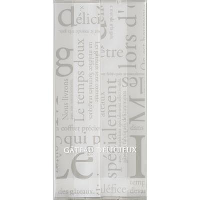 福助工業 合掌ガゼット袋 GT(透明タイプ)No.22洋柄ホワイト (小ロット1,000枚:100枚×10袋)
