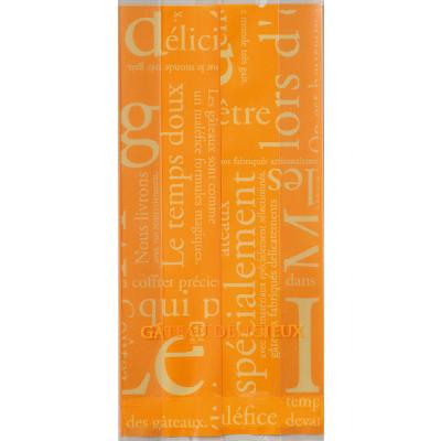 福助工業 合掌ガゼット袋 GT(透明タイプ)No.22洋柄オレンジ (小ロット1,000枚:100枚×10袋)