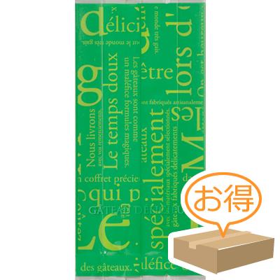 福助工業 合掌ガゼット袋 GT(透明タイプ)No.22洋柄グリーン (1ケース 5,000枚)