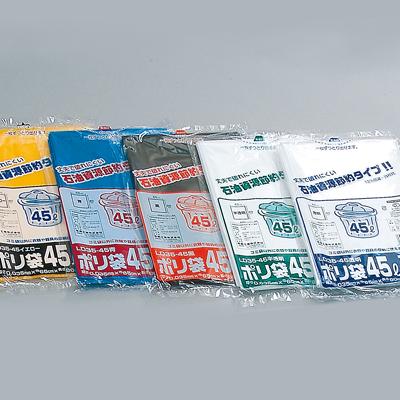 福助工業 業務用ポリ袋(45L) LD35-45 青 (500枚)