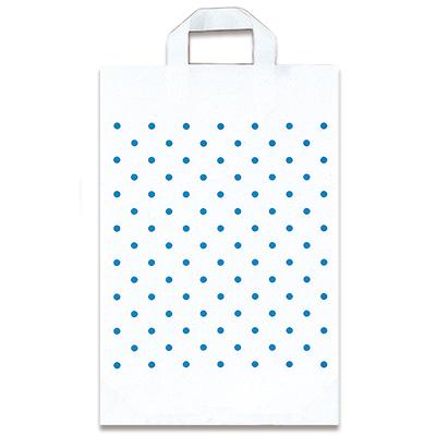 福助工業 カルチャーバッグ規格品(Hタイプ) 水玉(白) 小 (500枚)