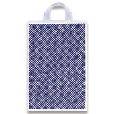 福助工業 カルチャーバッグ規格品(Hタイプ) しぼり柄(紺) 中 (500枚)