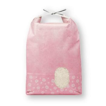 アサヒパック ひも付きパステルカラークラフト米袋 うめ 5kg用 (200枚)