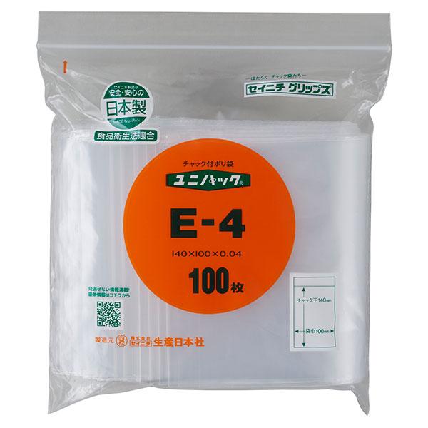 セイニチ ユニパック 0.04タイプ E-4(1ケース8000枚)