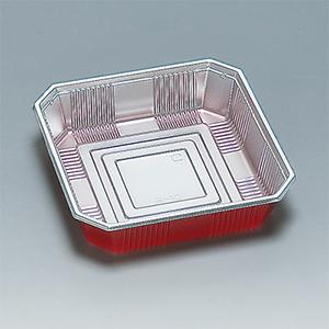 福助工業 使い捨て弁当箱・惣菜・仕出し容器 R-10(同一素材かぶせフタ付)耐熱80℃ 耐油性(1ケース400枚)