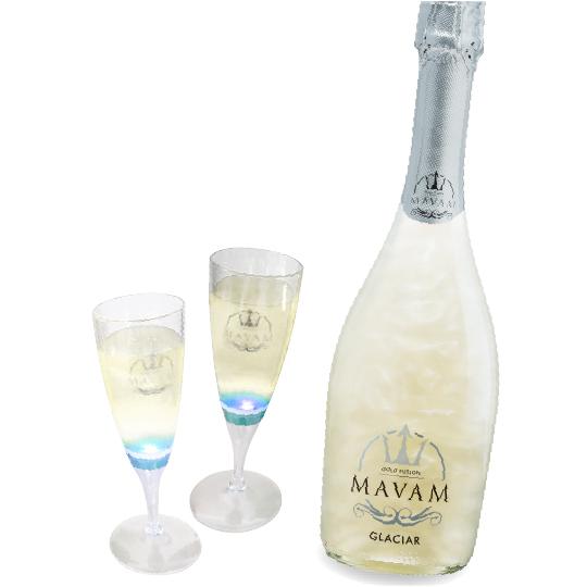 マバム グラシアオリジナルLEDグラス2脚付きキラキラ家飲みセット MAVAM GRACIAR 限定 光るオリジナルLEDグラス2脚付き キラキラ家飲みセット グラシア 売り込み 宅配便送料無料 スパークリングワイン